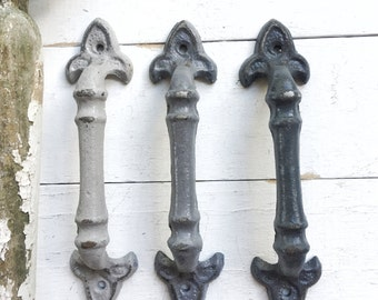 Fleur De Lis Cabinet Pulls , Cast Iron Drawer Pulls ,