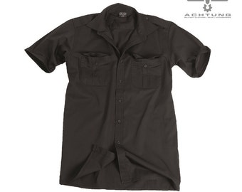 Black Short Sleeve Service Shirt
