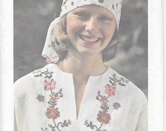 Butterick 4106 Embroidery 70s Transfers Sewing Pattern with 11 Different Motifs: Flower, Lazy Daisy, Star, Fly, Shisha Chain, Herringbone