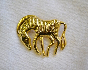 1960s Modernist Zebra Brooch