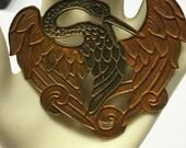 Art Nouveau Viking Cosplay Bird Brooch Antique Mythological Celtic Bird