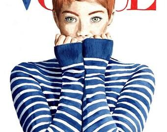 Vogue. Emma Stone. Print. Frame Ready. Choose Size.
