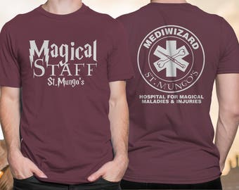 Harry Potter Doctor Shirt, FREE SHIPPING, Mediwizard, St Mungo's Hospital for Magical Maladies and Injuries, Harry Potter Tee, Hogwarts
