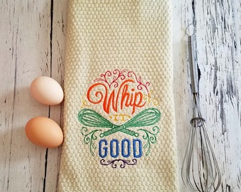 Whip It Good Kitchen Towel - Kitchen Towels, Dish Towels, Tea Towel, House Warming Gift, Hostess Gift, Kitchen Towels Funny, Kitchen Decor