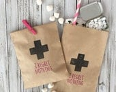 "Bachelorette Hangover Kit Bags - ""I Regret Nothing"" - Hangover Kits - I Regret Nothing Hangover Kits - Bachelorette Party Favors"