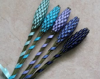 Lavender Wands - Cool Blues Quintet (5) Medium Batons English Lavender Lavandula 'Provence'