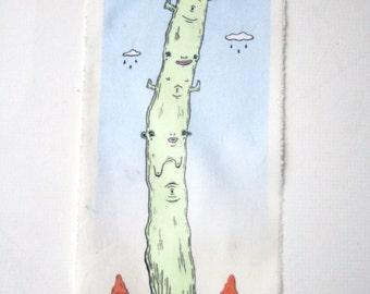 Daytime Saguaro Cactus Art Back Patch