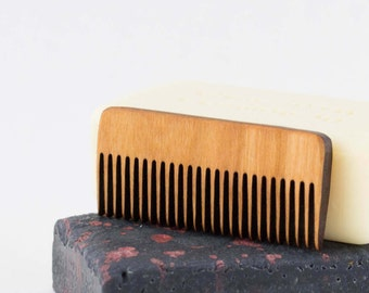 Beard Comb - Mustache Comb - Beard Care - Wood Comb - Boyfriend Gift - Gifts for Guys