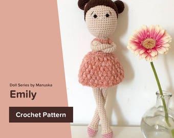 Emily | Crochet Pattern, Crochet Doll Pattern, Amigurumi Pattern, Amigurumi Doll