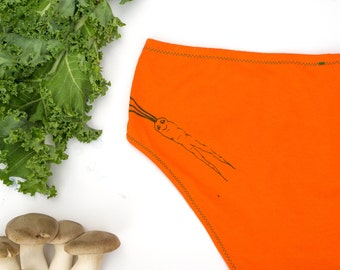 Carrot Mama Women's Handmade Underwear - Women's 8 - Ready to Ship