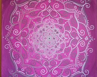 Flower Mandala on Pink