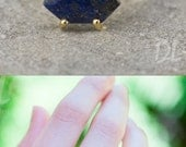 CYBER MONDAY SALE - Blue Lapis Lazuli Ring Gold - September Birthstone Ring - Stack Ring - Stackable Birthstone Ring - Gold Ring - Marquise