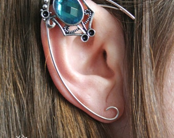 silvered elven ear  - ear cuff - elvish earring - elf ear -