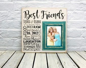 Gift, Personalized Best Friend Gift, Best Friend Gift, Mothers Day gift, Friendship gift, picture frame, Unique Friendship Gift, Bridesmaid