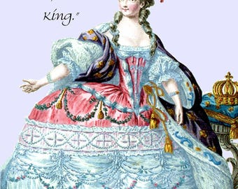 "BALLS, said the Queen. If I had 'em, I'd be King. - Marie Antoinette 4"" x 6"" Funny Postcard - Free Shipping in Usa"