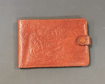 Small Vintage 1970s Bi-fold Tan Oak Calf Leather Wallet