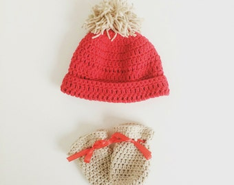 Crochet Baby Hat and Mittens PDF Pattern Instant Download