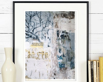collage mixed media Wall Art original  painting , nice abstract painting from listed artist Jolina Anthony