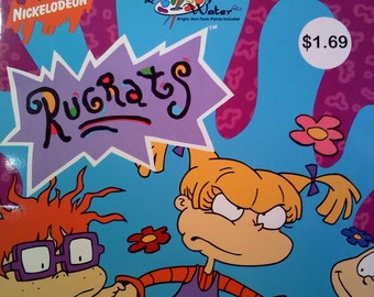 Nickalodeon RUGRATS Paint with Water Book, UNUSED