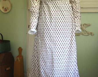 Early 19th Century Regency / Federalist Era Gown with Train- MADE TO ORDER