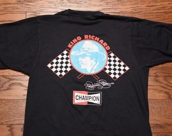 vintage 80s Richard Petty t-shirt 1980 NASCAR tee shirt King Richard Napa Champion Screen Stars medium M stock car racing 43 #43