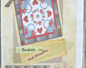 Baskets and Blossoms quilt pattern by Homestead Station Designs