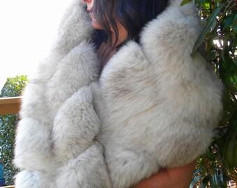 Fabulous Blue Fox stole / wrap / wedding