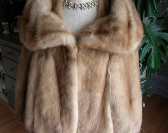 Beautiful mink fur cape / stole / wrap / shawl / wedding