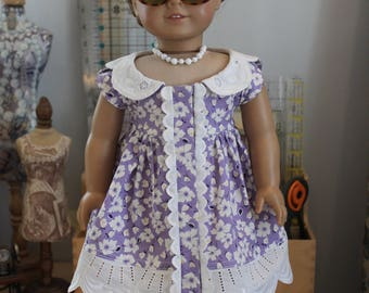 Contemporary Summer Dress in Lavender for 18 Inch Doll, C159