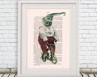 Elephant Print, Jumbo, Christmas Gift, Holiday Gift, Circus Elephant, Bicycle Print, Coco de Paris