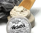 WICKED! WICKED!  GOOD! Emulsified Whipped Sugar Scrub with Jojoba & Argan Oils - Bath and Body - Exfoliating Scrub - Mother's Day Gift