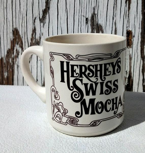 Vintage 1980 Hershey's Swiss Mocha Mug with Recipe on the Back