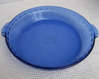 Blue Pyrex Pie Plate