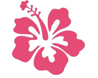 Hibiscus Flower Decal, Hibiscus Car Decal, Hibiscus Flower, Flower Decal, Vinyl Decal, MacBook Decal, Yeti Decal, Car Decal