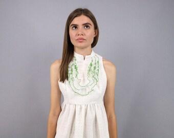 60s Joseph Magnin Mod Dress / Tuxedo Dress / 60s Maxi Dress / Polka-Dot Dress Δ size: M