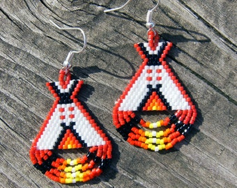 Native american style tipi earrings