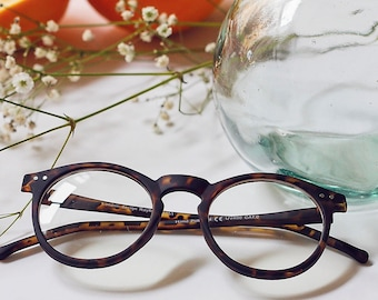 Matte Frosted Key Hole Faux Glasses
