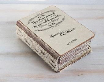 Wedding ring box, wedding box, ring bearer box / pillow, personalized ring box Engagement ring box Jewellry box Wedding ring holder Book box