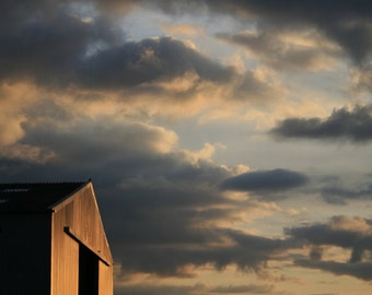 Barn Photography, Farm Photography, Farm Yard Picture, Art Print, Barn Photo, Evening Sky, Farm Yard Photo