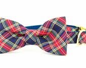 Crew LaLa™ Anson Plaid Bow Tie Dog Collar