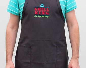 Father's Day Gift, BBQ Apron for Him, Gift for Dad, King of the Grill