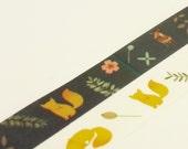 Tale of Renard - Japanese Washi Masking Tape Set - 2 rolls - 5.5 Yards (each roll)
