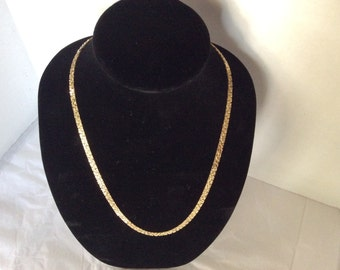 Nugget Necklace 24 Karat Gold Plated Signed