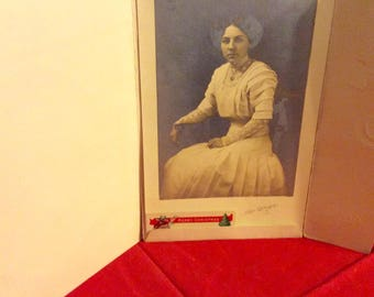 Antique Photo 1910 Pretty Lady Christmas Gift