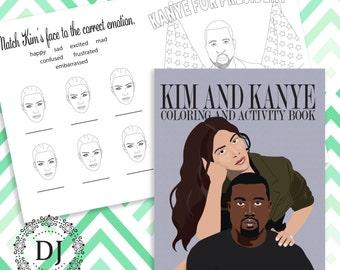 Kim and Kanye Coloring and Activity Book