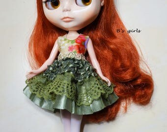 Blythe Party dress Ruffle Lace