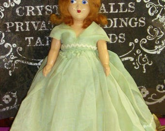 Antique Doll with Haunted Doll Story Mothers Day Gift Vintage Midcentury