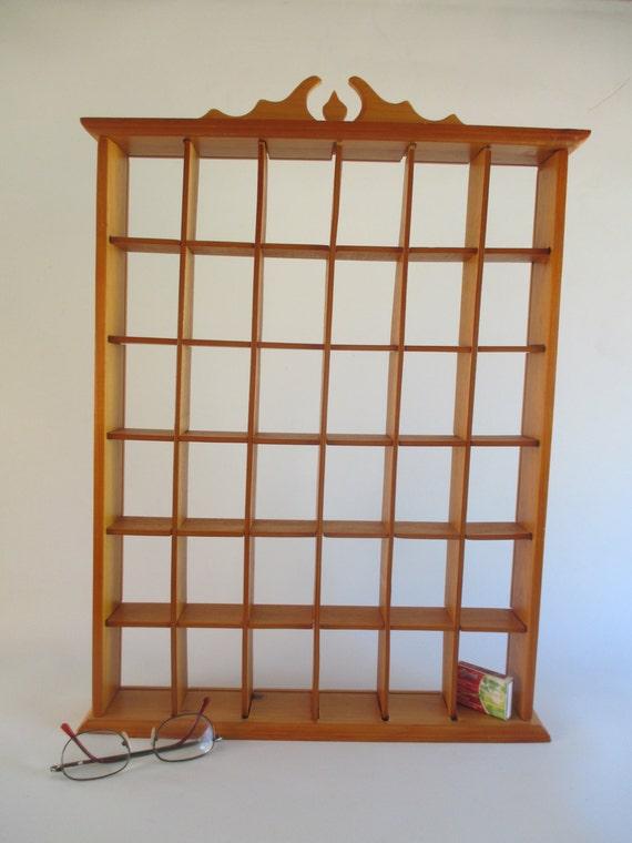 curio shelf vintage wall hanging shelf for miniatures light. Black Bedroom Furniture Sets. Home Design Ideas