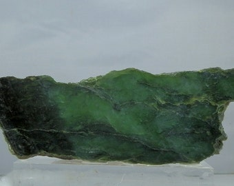 Nephrite Jade Lapidary Rough Slab from Jade City BC Canada 202 gram piece Over 7 inches long Lapidary & Cabochon Supply Jewerly Material