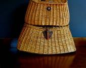 antique creel basket